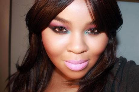 Night Out Party Colorful Smokey Eye Purple Blue Makeup Lime Crime Great Pink Planet