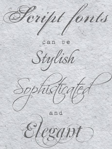 examples of wedding fonts compiled by Artemis Stationery (3)