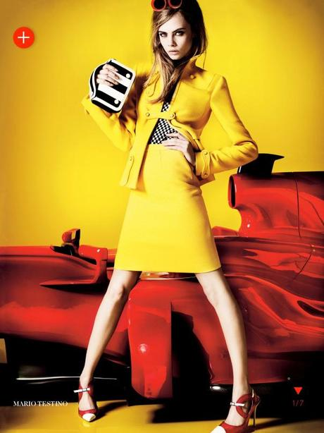 Cara Delevingne by Mario Testino for Vogue UK March 2013 6