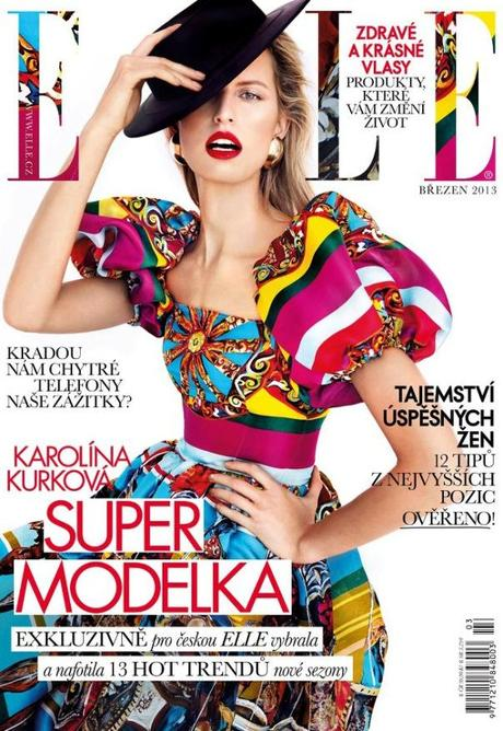 Karolina Kurkova by Branislav Simoncik for Elle Czech March 2013