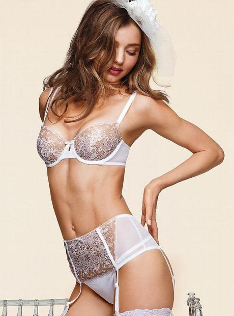 Miranda Kerr for the Victoria Secret Bridal Lingerie Collection