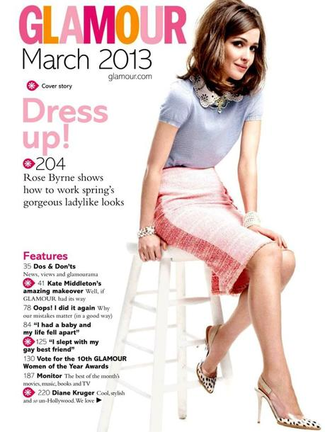 Rose Byrne by Coliena Rentmeester for Glamour UK March 2013