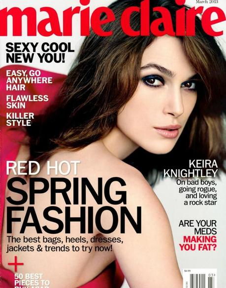 Cover- Keira Knightley by Nathaniel Goldberg for Marie Claire US March 2013