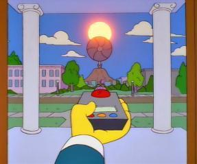 Mr. Montgomery Burns destroys blocks the sun