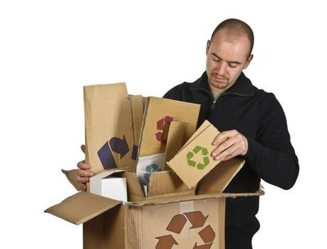 Man recycling stuff from his basement and attic