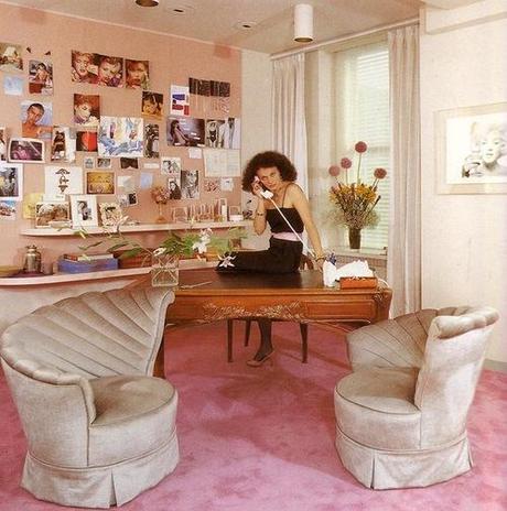 DVF in her office in the 70s
