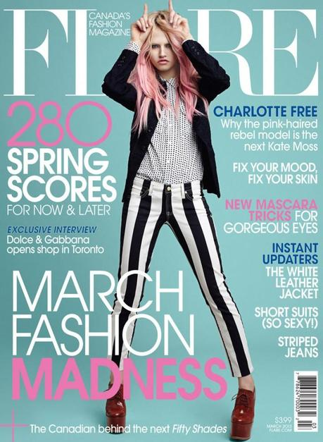 Charlotte Free for Flare Canada March 2013 by Max Abadian