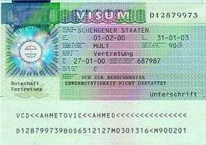 Example for filling in a German Schengen visa,...