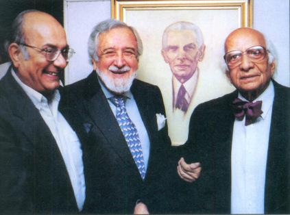 Miriam's gramps next to Arsehir Cowasjee and Fatehyab Ali Khan - at the right.  Check out that AWESOME bowtie :)  Photo Courtesy of Dawn News -  http://dawn.com/2012/11/25/in-pictures-arsehir-cowasjee-1926-2012