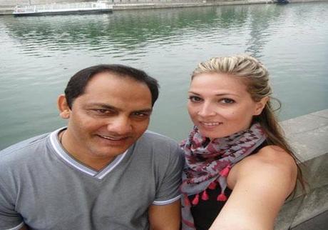 Mohammad Azharuddin with girlfriend