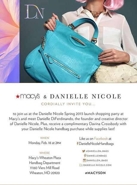 Danielle Nicole Handbags | Spring 2013 Launch at Wheaton Plaza