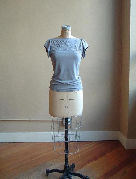 pale blue bamboo tee