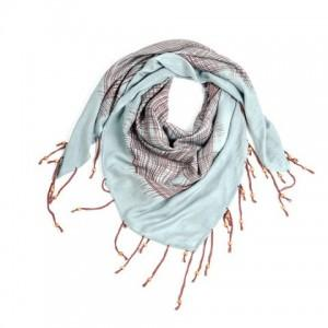 pale blue bamboo scarf