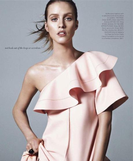 Julia Frauche by Daniel Jackson for Harper's Bazaar US March 2013  5