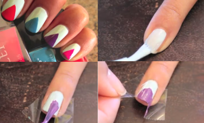 Triangle Nails 400x243 Simple Nails in a Whole New Light.