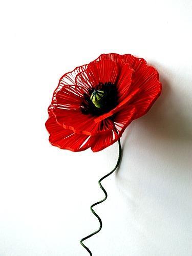 quilled-red-poppy