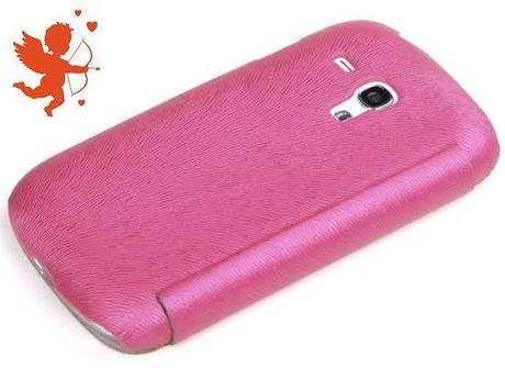 ROCK Flip Leather Case for Galaxy S3 Mini - Pink