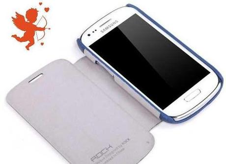 Samsung Galaxy S 3 Mini Flip Leather Case  - Dark Blue