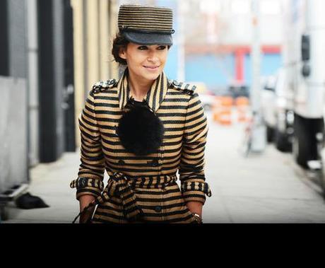 Streetstyle: New York Fashion Week Miroslava Duma in Burberry