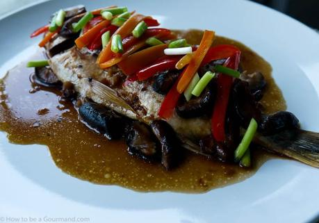 Whole baked Chinese Sea Bream