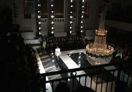 Jason Wu Fall 2013 : The chandelier set the mood .....