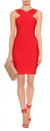 herve-leger-bandage-dress, herve leger, herve leger dress red, red bandage dress