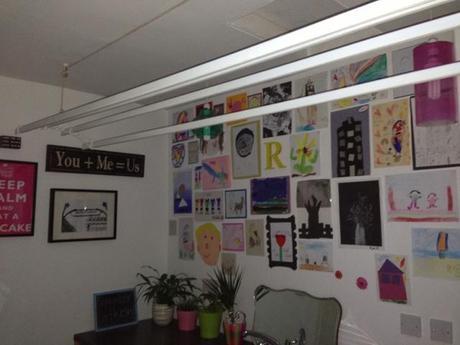 Kids art wall project 💜