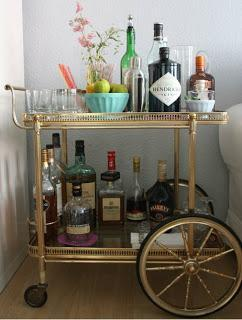 DIY bar cart makeover soon to be underway ♥