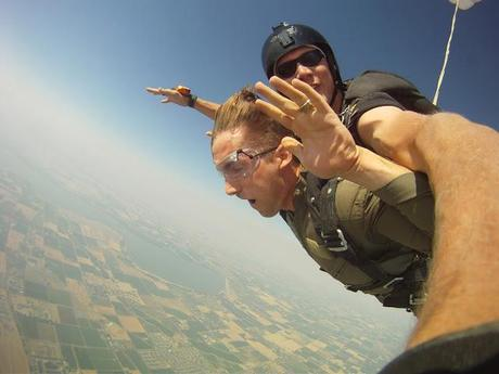 one time, we went skydiving