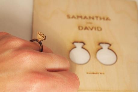 Ring wedding invitation