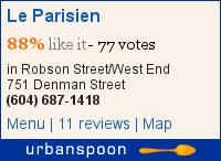 Le Parisien on Urbanspoon