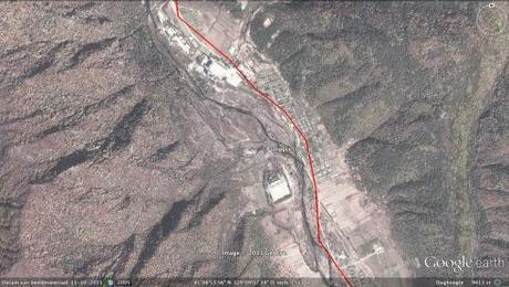 The community of Punggye-ri, located 12.5 km (7.7 miles) from the nuclear test area (Photo: Google images)