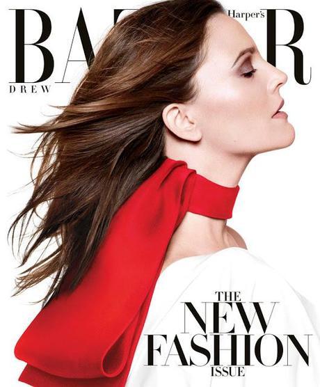 Drew Barrymore in Louis Vuitton for Harper's Bazaar US March 2013 Cover