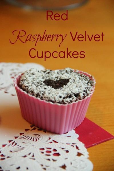 red raspberry velvet cupcakes 399x600 Red Raspberry Velvet Cupcakes
