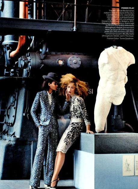 Joan Smalls and Raquel Zimmerman by Mario Testino for Vogue US March 2013