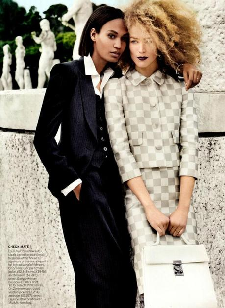 Joan Smalls and Raquel Zimmerman by Mario Testino for Vogue US March 2013 7