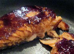 Salmon-ginger glaze