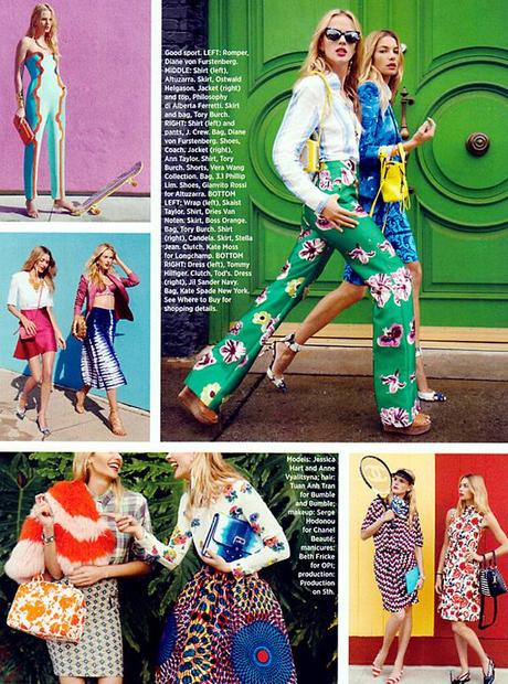 Anne Vyalitsyna and Jessica Hart for Harper's Bazaar US March issue by Tommy Ton 4