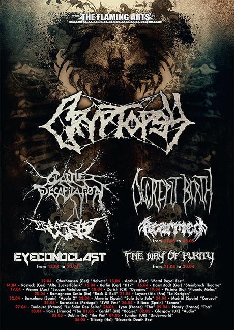 CRYPTOPSY To Tour Europe With CATTLE DECAPITATION And DECREPIT BIRTH