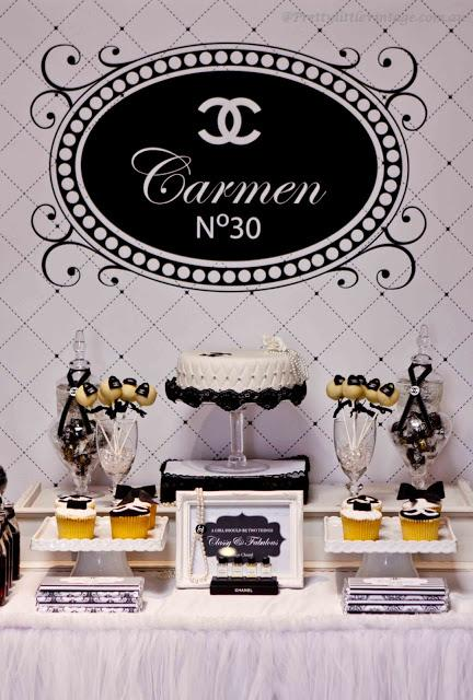 chanel no  30 themed table by pretty little vintage