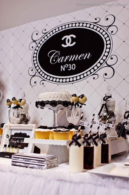 Chanel No. 30 Themed Table by Pretty Little Vintage Melbourne