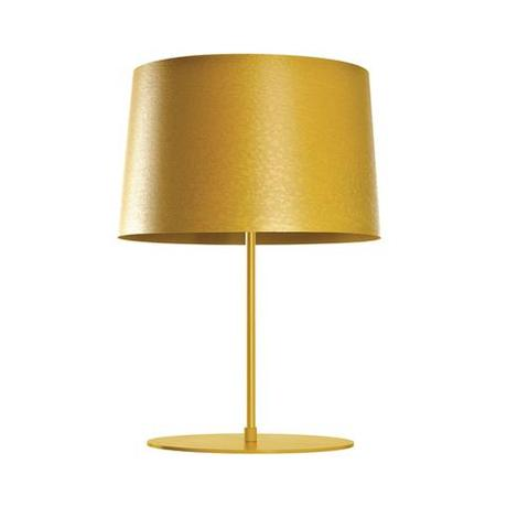 Modern golden table lamp.