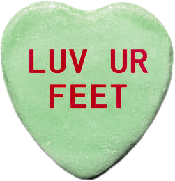 luv feet green candy