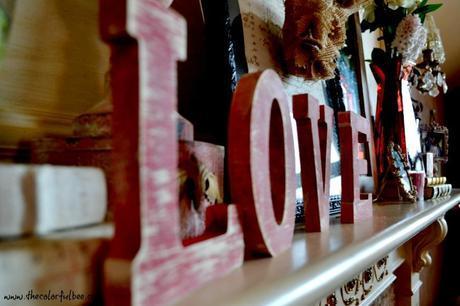 LOVE wording on mantle