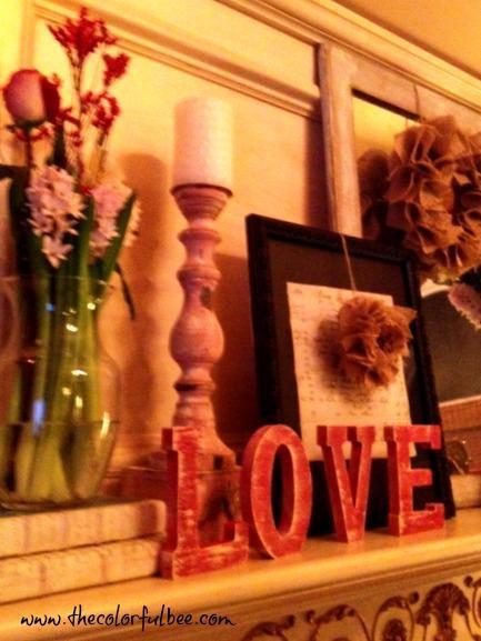 Valentine's Day Mantle