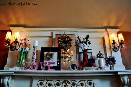 full view of the Valentine's mantle