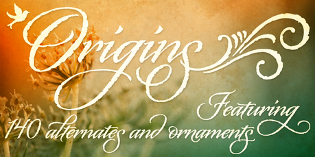 Calligraphy fonts by Laura Worthington, Origins font, calligraphy font, cursive font, script font, wedding font, hand lettered font, best selling font, Most Popular fonts of 2012, top selling font, fonts for invitations, fonts for weddings