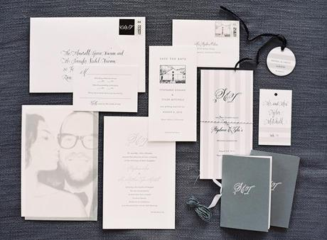 Post image for Belluccia Calligraphy Font used in Black and White Wedding