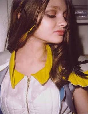 Li Sang 2010 Lookbook featuring model Katiusha FeofanovaI...