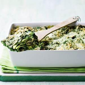 Spinach lasagna with goats cheese